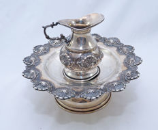 A sterling silver Last Waters set - ewer and basin- Israel - second half 20th century