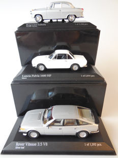 Minichamps - Scale 1/43 - Lot with 3 classic models: Borgward, Lancia & Rover