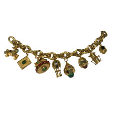 Very Large Charm Bracelet for large wrist (23.5cm), as new.