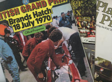 1970 1972 1973 British  Grand prix  Programmes Silverstone and Brands Hatch  Rodreguez, Hill, Stewart, Beltoise