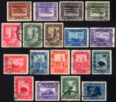 Somalia 1935-38, complete pictorial series of 18 values - Sass. No.  213/230
