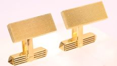 Vintage rectangle shaped gold cuff links, anno 1960