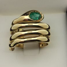 750 GOLD ring, emerald size 57
