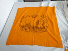 Commemorative canvas - 25 year jubilee of King William III together with Queen Sophie - 1849 - 1874