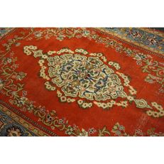 Royal old Persian carpet Qom made in Iran 225 x 145 cm