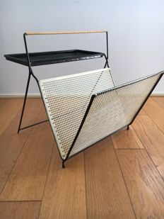 Unknown designer - Modernist-shaped magazine rack