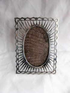 Silver photo frame with open work patterns, Porto, Portugal 2nd half of the 20th century