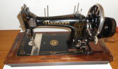 Large Naumann sewing machine with dust cover