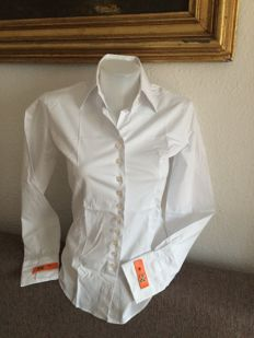Hermes-white shirt.