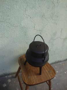 Regular - Wrought iron fireplace pot - 1900