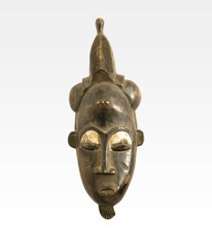 Ancient African Mask  - Baulè people - 1930's