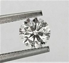 0.70 carat Diamond , D color , VS2 clarity , UNTREATED , 3 x EX  , AIG certified + Laser Inscription on Girdle