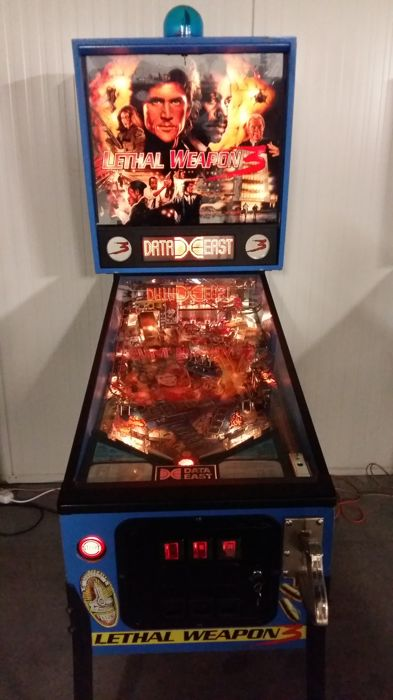 Prachtige Lethal Weapon 3 Pinball - 1992