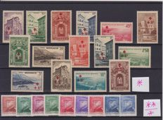 Monaco, 1885–1997 - Collection with miniature sheets, entire sheets, souvenir sheets, Airmail