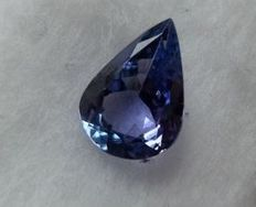 Tanzanite - greenish violet -  1.79 ct