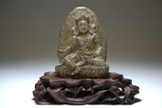 A rock-crystal figure of Padmasambhava - Nepal - 19th century