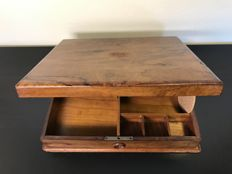 Walnut writing box with extensive content, England - approx. 1910