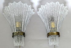 Barovier & Toso (attributed to) - Pair of wall lamps
