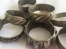 Collection of 10 bracelets from Morocco - Silver or silver-plated metal