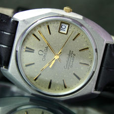OMEGA Constellation Chronometer Quartz Date Steel Mens Watch - 1980s