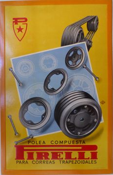 Pirelli, pulley for v-belts - c. 1950