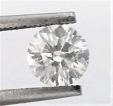 1.01 carat , F color , SI2 clarity , Untreated Diamond , AIG certified + Laser Inscription on Girdle