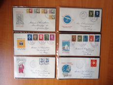 The Netherlands 1953/1959 - Selection of 25 FDCs