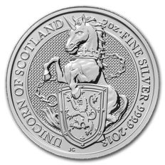 Great Britain - 5 Pounds 2018 'The Queen's Beasts - Unicorn of Scotland' - 2 oz silver