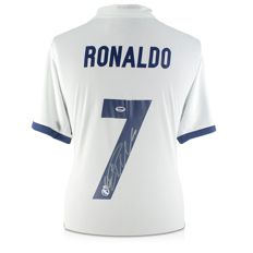 Cristiano Ronaldo Official Signed Real Madrid shirt 16/17 + Double COA and photoproof!