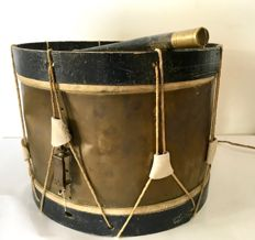 Antique French military drum
