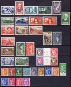 France 1937 - Complete year - Yvert 334/371