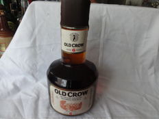 Old Crow 6 years old Kentucky Straight Bourbon Whiskey Sour Mash form the 70´s in 1,5 L bottle
