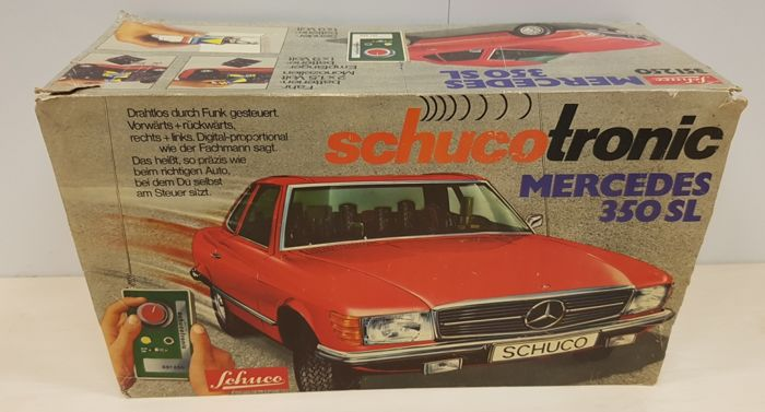 Vintage Schuco Tronic Mercedes 350 SL remote controlled car – Scale 1:14 - 1970