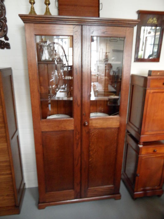 Oak display case, early 20th century