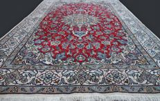 Incredible and fantastic Persian NAIN carpet from Iran, luxurious, natural wool and silk, very finely hand-knotted, approx. 296 x 198 cm, private collection