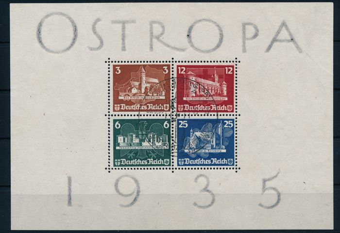 German Reich - 1935 - stamp exhibition OSTROPA - Michel block 3