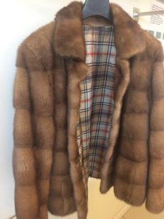 Male mink fur jacket Made by Italian furriers.