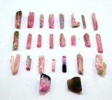 Top Quality Terminated & Undamaged  Pink color Tourmaline crystals Lot - 24 gm