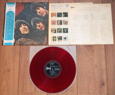 "The Beatles- Rubber Soul lp/ 1st Japanese pressing from 1966 on RED ""low noise"" wax/ w. original printed inner sleeve, 4-page insert & replica-OBI"