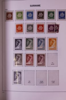 Suriname and Netherlands Antilles 1890/1978 - collection in Davo crystal preprint album and batch in stock book