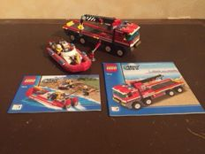 City - 7288 + 7213-7206 + 7239-7942 + 7208 - Mobile Police Unit + off-road Fire Truck & Fireboat and more