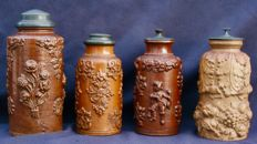 4 tobacco jars in sandstone Beauvais Manufactory of Italy - 19th century - France