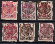 Cape Juby 1916 - Gold stamps from Rio from 1914 - Edifil 1/4, 3A, 4A