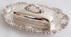 Antique Silver Plated Butter Dish - Yeoman Early 20th Century