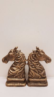 Cast iron bookends - horses