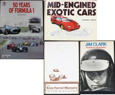 Mid-Engined Exotic Cars by Nathan F.Stevens 1981 - Jim Clark - The Enzo Ferrari Memoirs - 50 Years of Formula 1