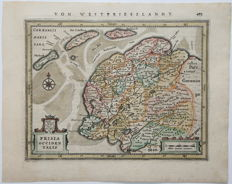 Friesland; Gerard Mercator / Johannes Jansonius - Frisia occidentalis.  - 1651