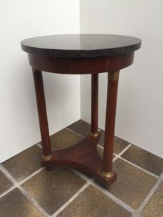 Empire - side-table in mahogany with marble top - France, ca. 1880