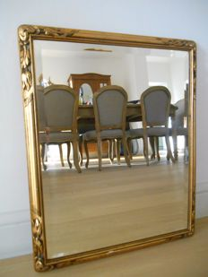 Gold-plated mirror from circa 1900