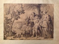 By Lucas Vosterman (1595-1675) - Il ritorno dall'Egitto (by Peter Paul Rubens) - anonymous engraver - 17th century